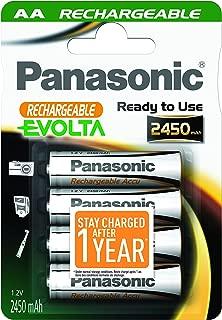 4 Evolta AA rechargeable batteries