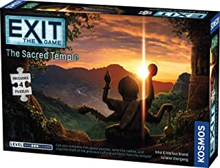 EXIT - The Sacred Temple (Includes Puzzles) Board Game