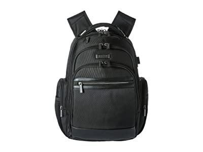 Kenneth Cole Reaction 17 RFID Computer Business Backpack (Black) Backpack Bags