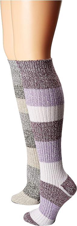 Super Soft Stripe Knee High 2-Pack