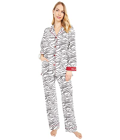 P.J. Salvage Wild at Heart Flannel Pajama Set (Ecru) Women