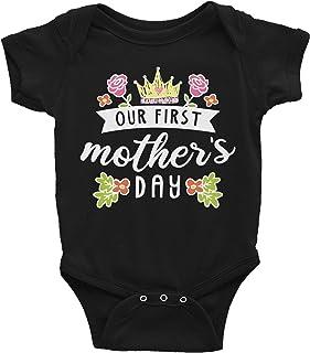 VinMea Baby Onesie Mother's Day Baby Mother's Day Infant First Time Mom Baby First Time Mom Baby Gift, New Mom Baby Bodysu...