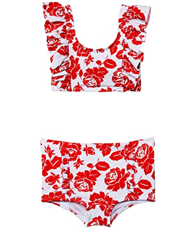 Janie and Jack Floral Two-Piece Retro Swimsuit (Toddler/Little Kids/Big Kids)