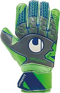 uhlsport TENSIONGREEN Soft PRO Flat Palm Classic Cut Junior Goalkeeper Gloves for Soccer