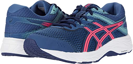 asics wide tennis shoes womens navy