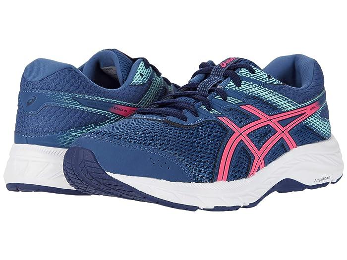 ASICS  GEL-Contend 6 (Grand Shark/Pink Glo) Womens Running Shoes