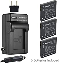 Kastar 3x Battery + Charger for Panasonic DMW-BCK7 & Lumix DMC-FH2 FH4 FH5 FH6 FH25 FH27 FP5 FH7 FS16 FS18 FS22 FS28 FS35 FS37 FS40 FS45 FT20 FT25 FX77 FX78 FX80 FX90 S1 S2 S3 S5 SZ1 SZ5 SZ7 TS20 SZ25