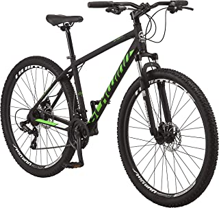 Schwinn High Timber Youth and Adult Mountain Bike, Aluminum and Steel Frame Options, 7-21 Speeds Options, 24-29-Inch Wheels, Multiple Colors