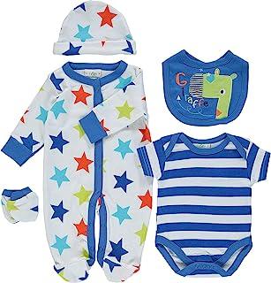 86676854758ce Ensemble cadeau de naissance pour bébé garçon girafe layette trousseau