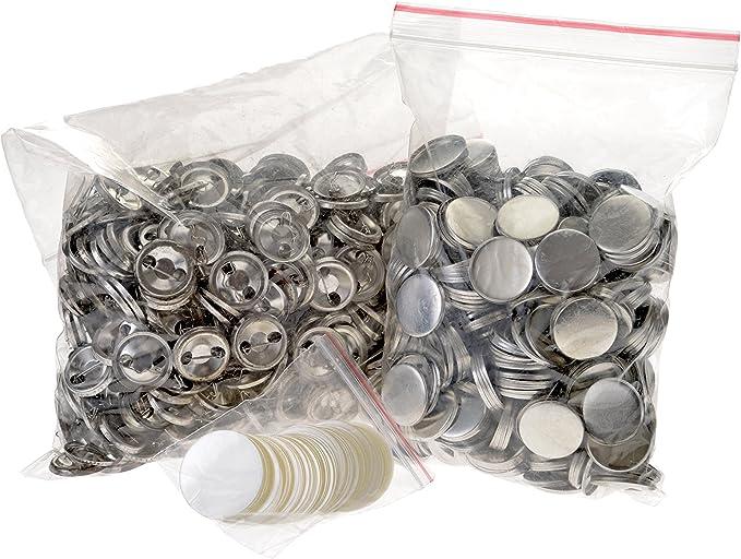 vidaXL 100x Buttonrohlinge mit Anstecknadel Sicherheitsnadel Buttons Rohlinge Ansteckbuttons f/ür Badgematic Buttonmaschine Acryl 25mm