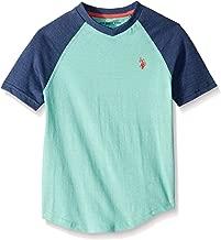 U.S. Polo Assn. Boys' Raglan Short Sleeve V-Neck T-Shirt