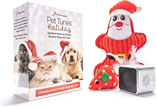 Pet Acoustics Pet Tunes Holiday Music Pet Gift Pack: pre-Loaded Calming Music, Dog Toy, Cat Toy