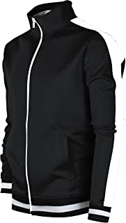 SCREENSHOTBRAND Mens Hip Hop Premium Slim Track Jacket - Side Taping