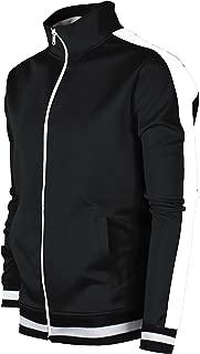 Screenshotbrand Mens Hip Hop Premium Slim Track Jacket - Side Taping