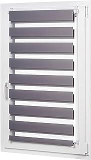 comprar comparacion AmazonBasics - Estor enrollable de doble capa, 66 x 150 cm, Gris oscuro