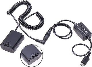 Hersmay 8 V 3 A PD/Typ-C zasilacz sieciowy kabel do DC5521 męski akumulator NP-FZ100 Dummy do Sony A9, Alpha 9, Alpha A7 I...