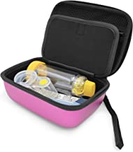 CASEMATIX Pink Travel Asthma Inhaler Case Medicine Bag Fits Inhaler Asthma Relief Asthmanefrin, Masks, Spacer Aero Chamber, Primatine Mist, Lung Expansion for Kids and Adult - CASE ONLY