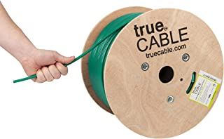 Cat6A Shielded Riser (CMR), 1000ft, Green, 23AWG Solid Bare Copper, 750MHz, ETL Listed, Overall Foil Shield (FTP), Bulk Ethernet Cable, trueCABLE