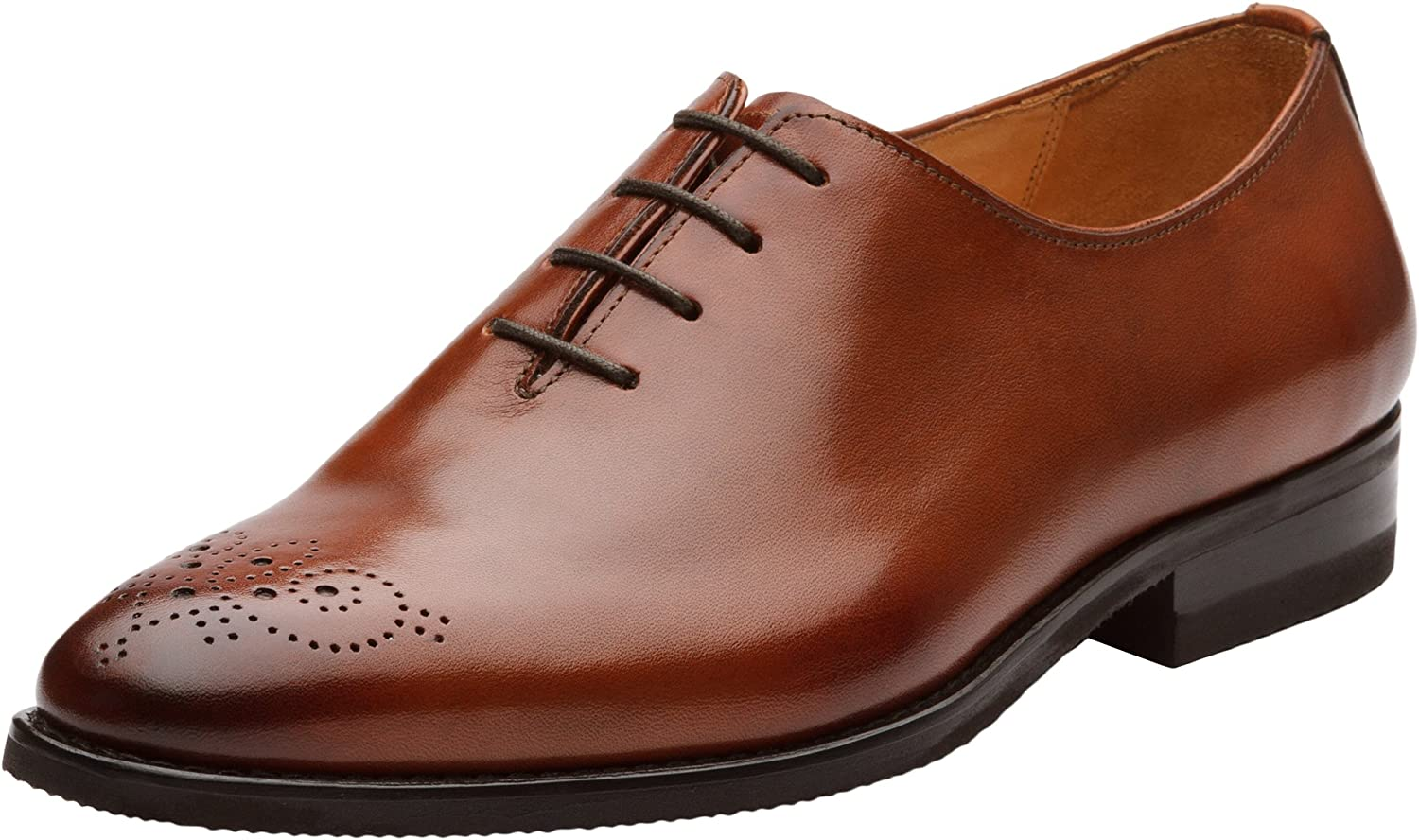 Dapper shoes Co. Handcrafted Genuine Leather Men's Classic Wholecut Oxford shoes