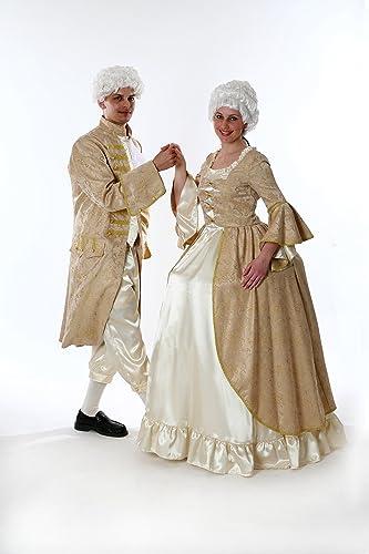 Rokoko Kleid für Damen Gr. XL Barock Kostüm Gold WeißTheater Qualität