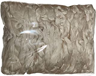Mulberry Silk Fiber for Spinning, Felting or Dyeing. Undyed Combed Top 100 Gram