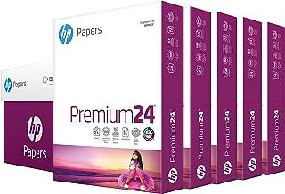 hp Printer Paper | 8.5 x 11 Paper | Premium 24 lb | 5 Ream Case - 2500 Sheets | 100 Bright | Made in USA - FSC Certified |...