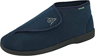 Mens Dunlop Albert Touch Fasten Washable Adjustable Slippers Sizes 6-12