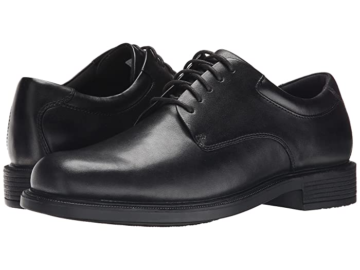 Rockport  Big Bucks Margin (Black Leather) Mens Dress Flat Shoes