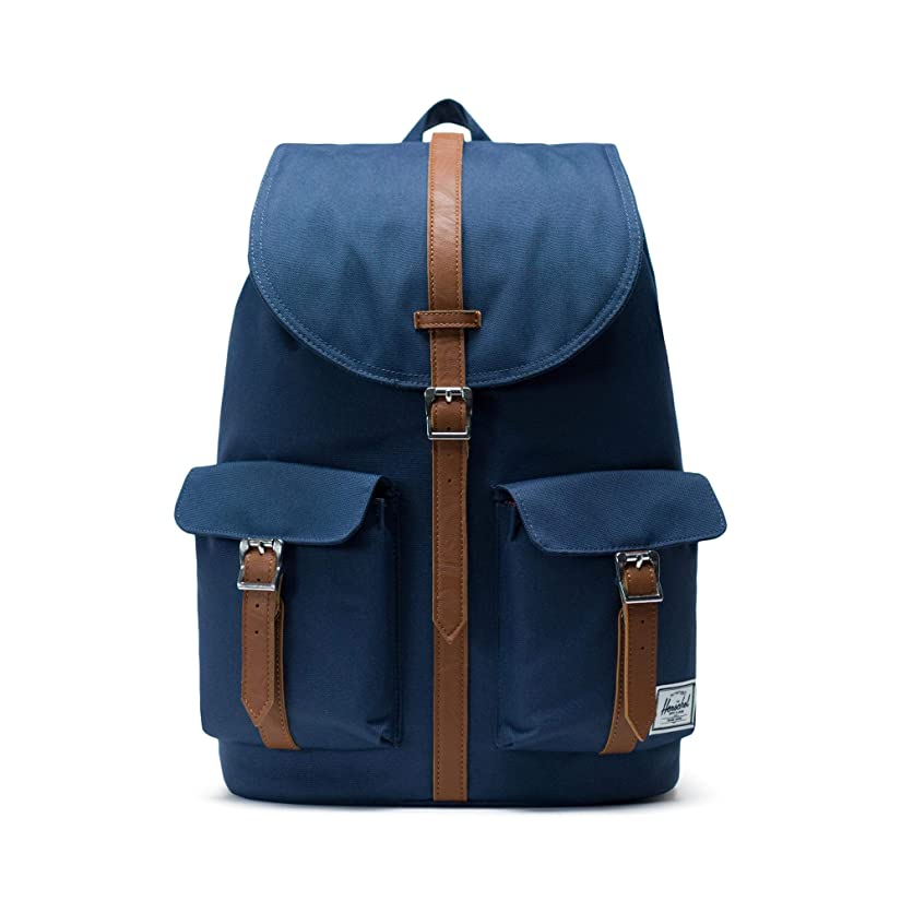 三角形有益レーニン主義[ハーシェルサプライ] Dawson Classics   Backpacks Navy/Tan Synthetic Leather
