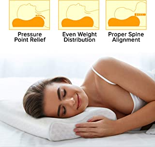 Memory Foam Pillow for Sleeping - Orthopedic Neck Support Pillows for Sleeping, Cervical Pillow for Back and Side Sleeper with Washable Pillow Cover