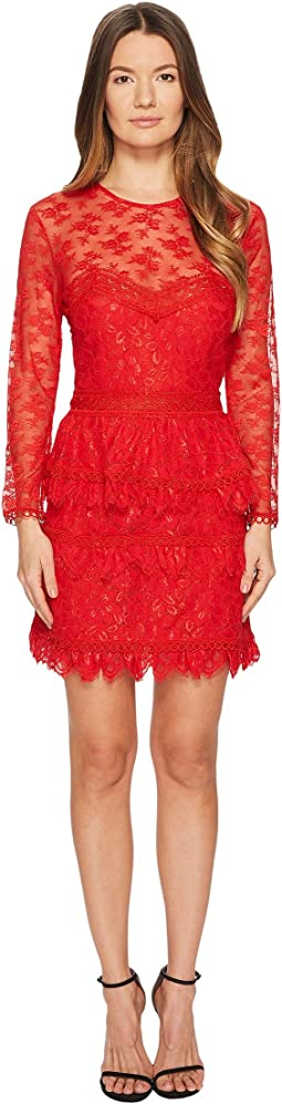 Lace Dress with Floral Details