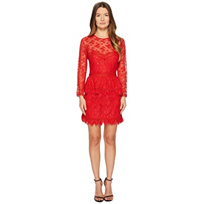 The Kooples Lace Dress with Floral Details (Red) Women
