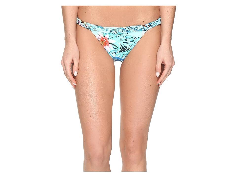 Image of 6 Shore Road by Pooja Domingo Moderate Bikini Bottom (Amazon Floral) Women's Swimwear