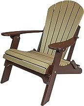 Amish Made Poly Folding Adirondack Chairs (Weatherwood on Brown)