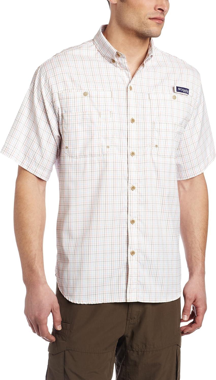 Columbia Popular brand Men's Tulsa Mall Super Tamiami Short Shirt British Sleeve Large