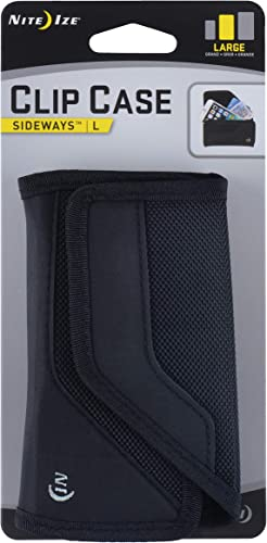 discount Nite 2021 Ize Clip Case Sideways Phone Holster - new arrival Protective, Clippable Phone Holder For Your Belt Or Waistband - Large - Black online