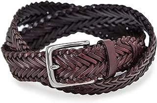 Hackett Men's Leather Plaited Belt Brown