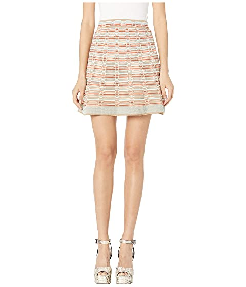 M Missoni Short Skirt with Oval Stitch Detail