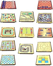 Paramdhyey 13 in 1 Ludo, Chess, Snake and Ladder and More Board Game for Kids & Family Fun Game. (Multi)