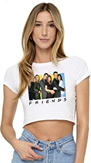 Friends TV Cast Juniors Teen Girls Crop Top T Shirt & Stickers