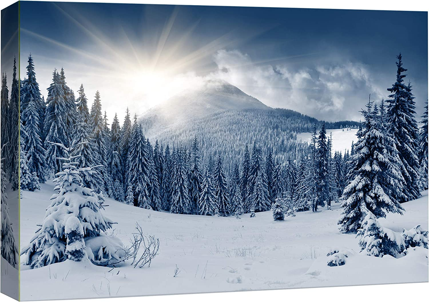 wall26 - Winter Mountain Snow Covered Max 75% OFF Ar Art Trees Wall Canvas Indefinitely