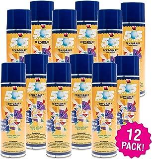 Odif 99943 USA 505 Spray & Fix Temporary Fabric Adhesive 12/Pk-12.4oz, 12 Pack