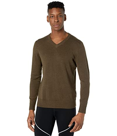 Smartwool Sparwood V-Neck Sweater (Military Olive Heather) Men