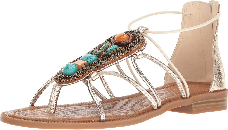Nine West Womens Gondola Metallic Dress Sandal