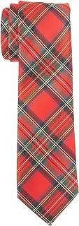 Chaps Boys' Big Classic Tartan Tie, Red, One Size