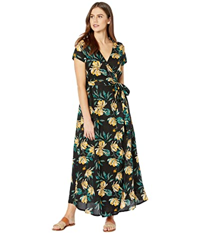 Roxy District Day Dress (Anthracite Tropical Day) Women