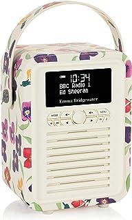 VQ Retro Mini DAB+ Digital Radio with AM/FM, Bluetooth & Alarm Clock – Emma Bridgewater WallFlower