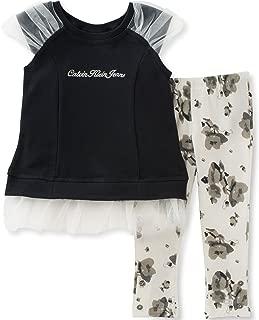 Calvin Klein 女童两件套时尚上衣和打底裤套装