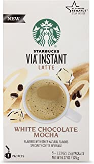 Starbucks VIA Instant Coffee Flavored Packets — White Chocolate Mocha Latte — 1 box (5 packets)