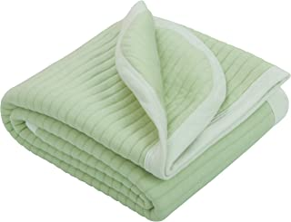 NTBAY Lightweight Soft Jersey Cotton Toddler Blanket, Breathable and Warm for Boys and Girls Baby Blanket, 30 x 40 Inches, Green